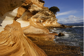 Cliff formation on Maria Island, Tasmania, Australia