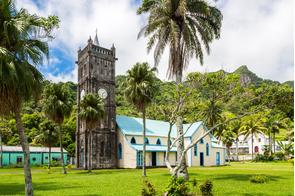 Colonial church in Levuka, Fiji