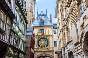 Rue du Gros Horloge, Rouen, France