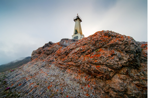 Lighthouse on Cape Dezhnev, Russia