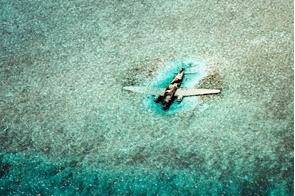 DC3 plane wreckage, Norman's Cay, Bahamas