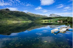 Eidsvatnet lake, Eidsdal, Norway