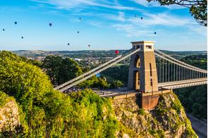 Balloons over Clifton Suspension Bridge, Bristol