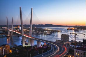 Sunset over Vladivostok, Russia