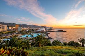 Sunset over Santa Cruz de Tenerife