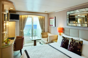 Crystal Cruises - Crystal Serenity Deluxe Stateroom with Veranda