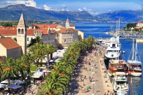 Promenade in Trogir, Croatia