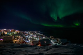 Greenland & Northwest Passage cruises - Northern Lights over Nuuk
