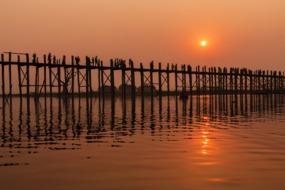 Myanmar & Ayeyarwady river cruises - U Bein Bridge, Amarapura