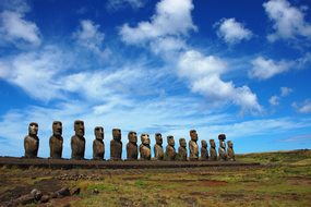 Pacific island expedition cruises - Moai statues, Easter Island