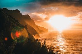 Hawaii cruises - Kauai at sunset