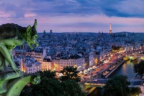 Seine river cruise through Paris