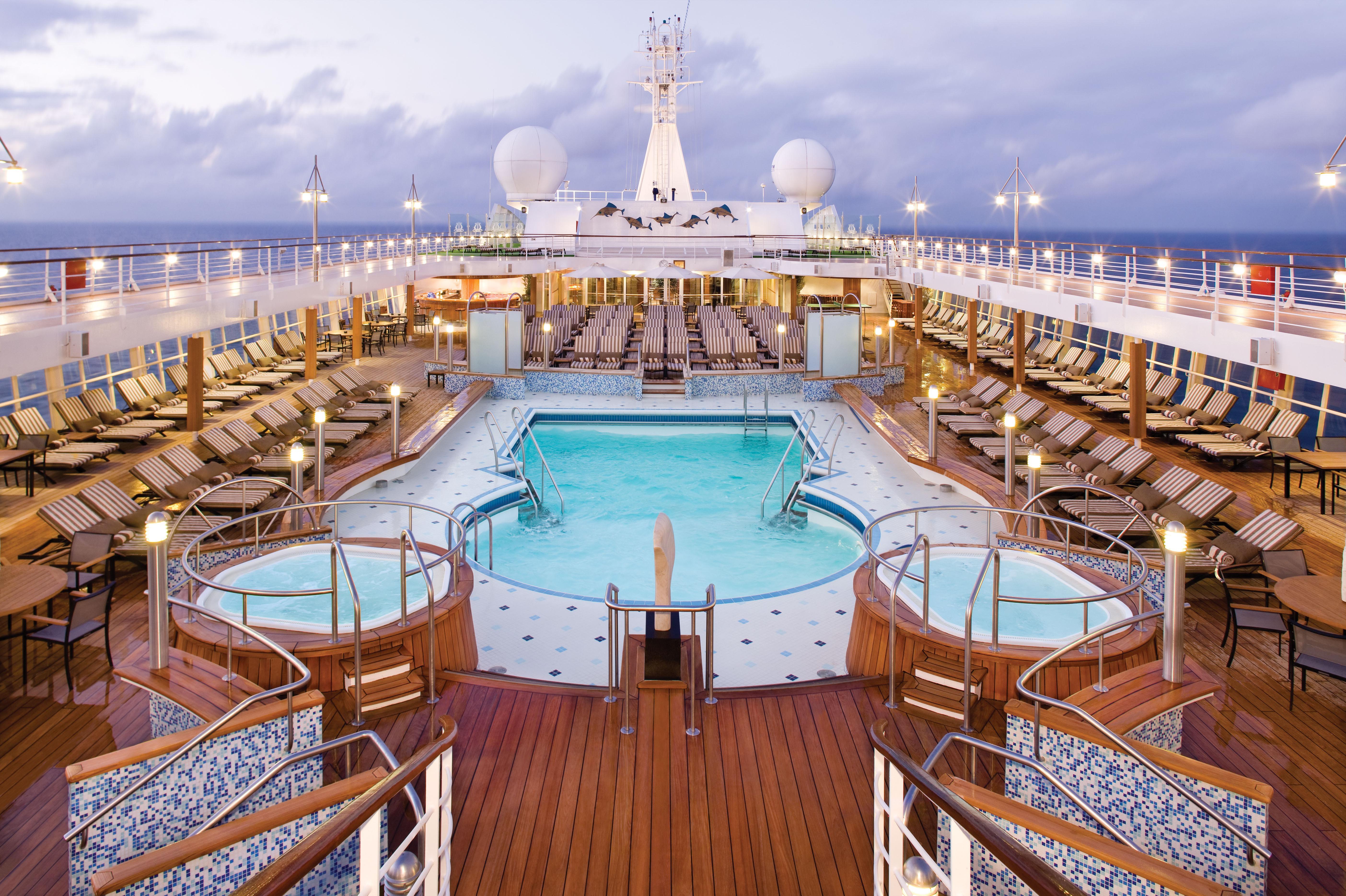 Regent Seven Seas Voyage Pool Deck