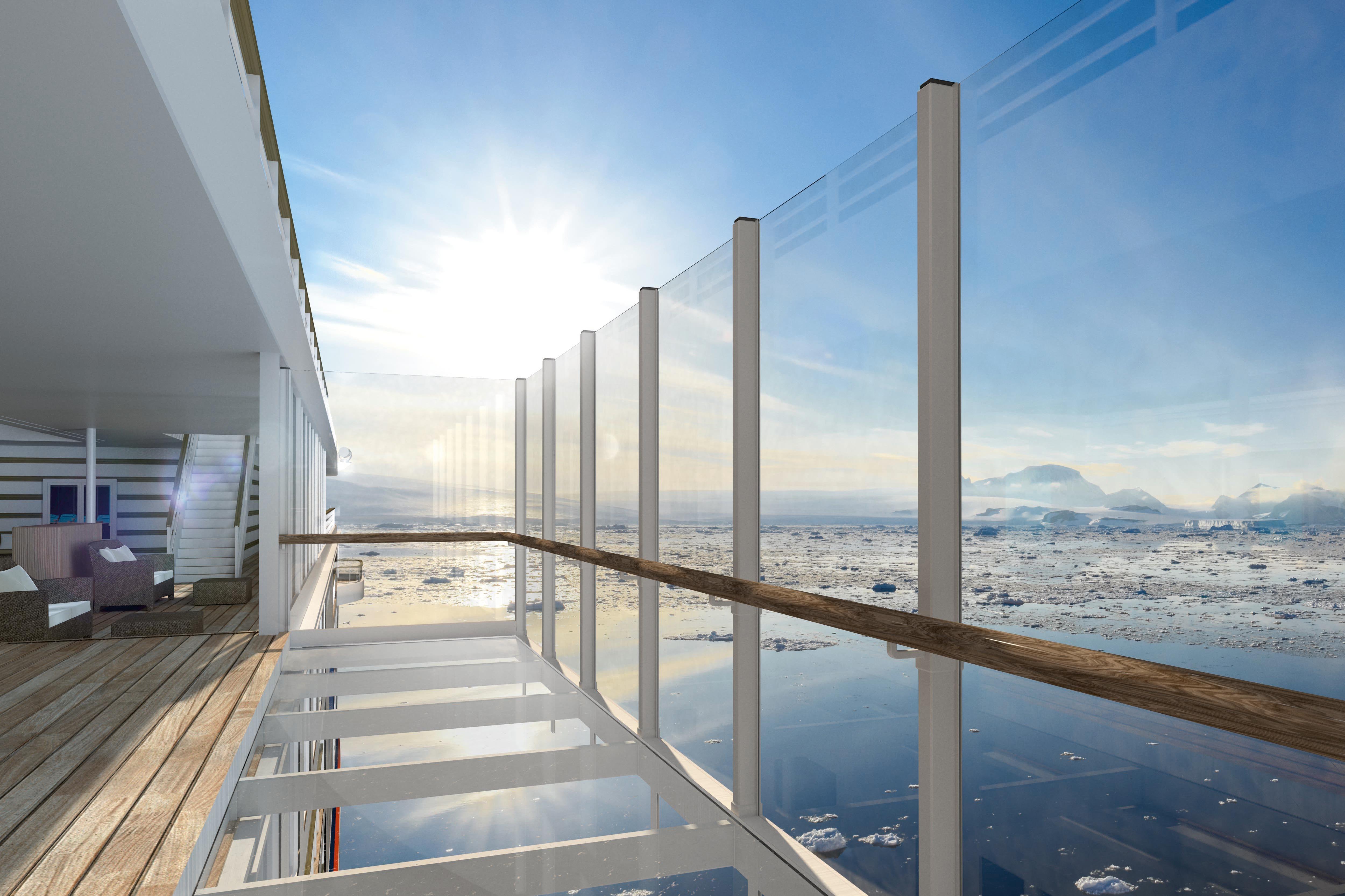 Hapag-Lloyd Cruises - Hanseatic Nature & Hanseatic Inspiration glass balcony