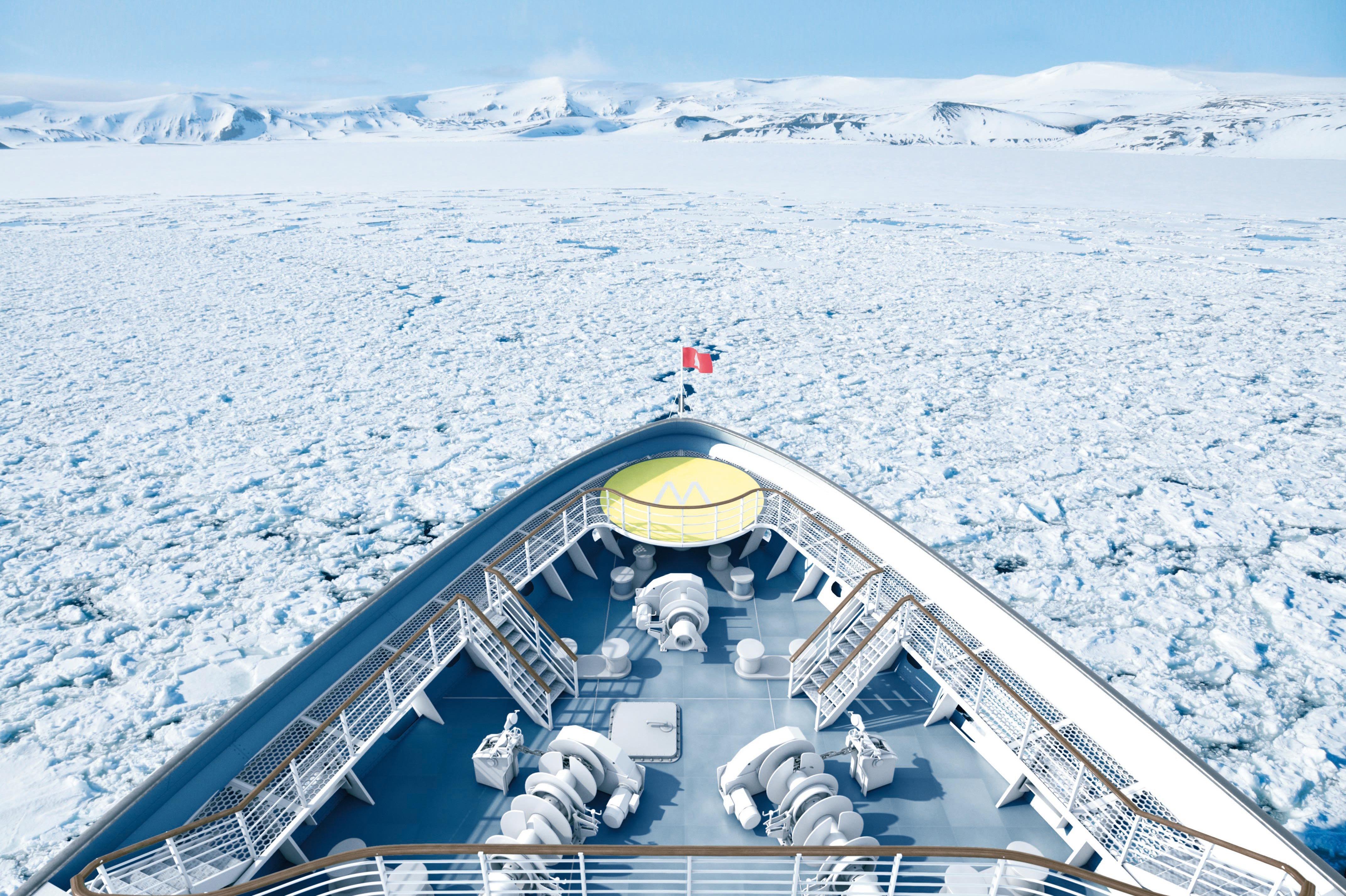 Hapag-Lloyd Cruises - Hanseatic Nature & Hanseatic Inspiration bow walkway