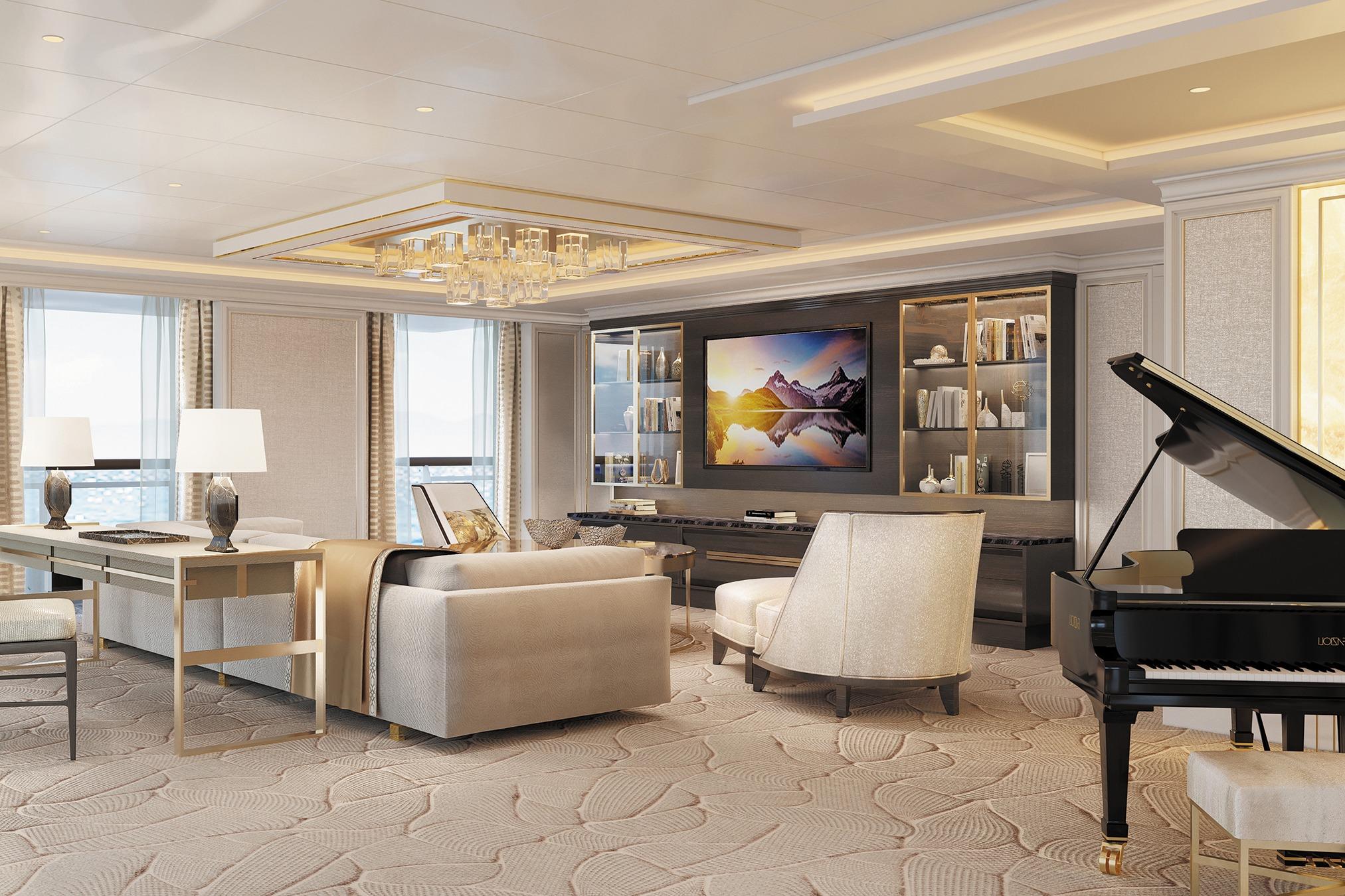 Regent Seven Seas Splendor - Regent Suite living room