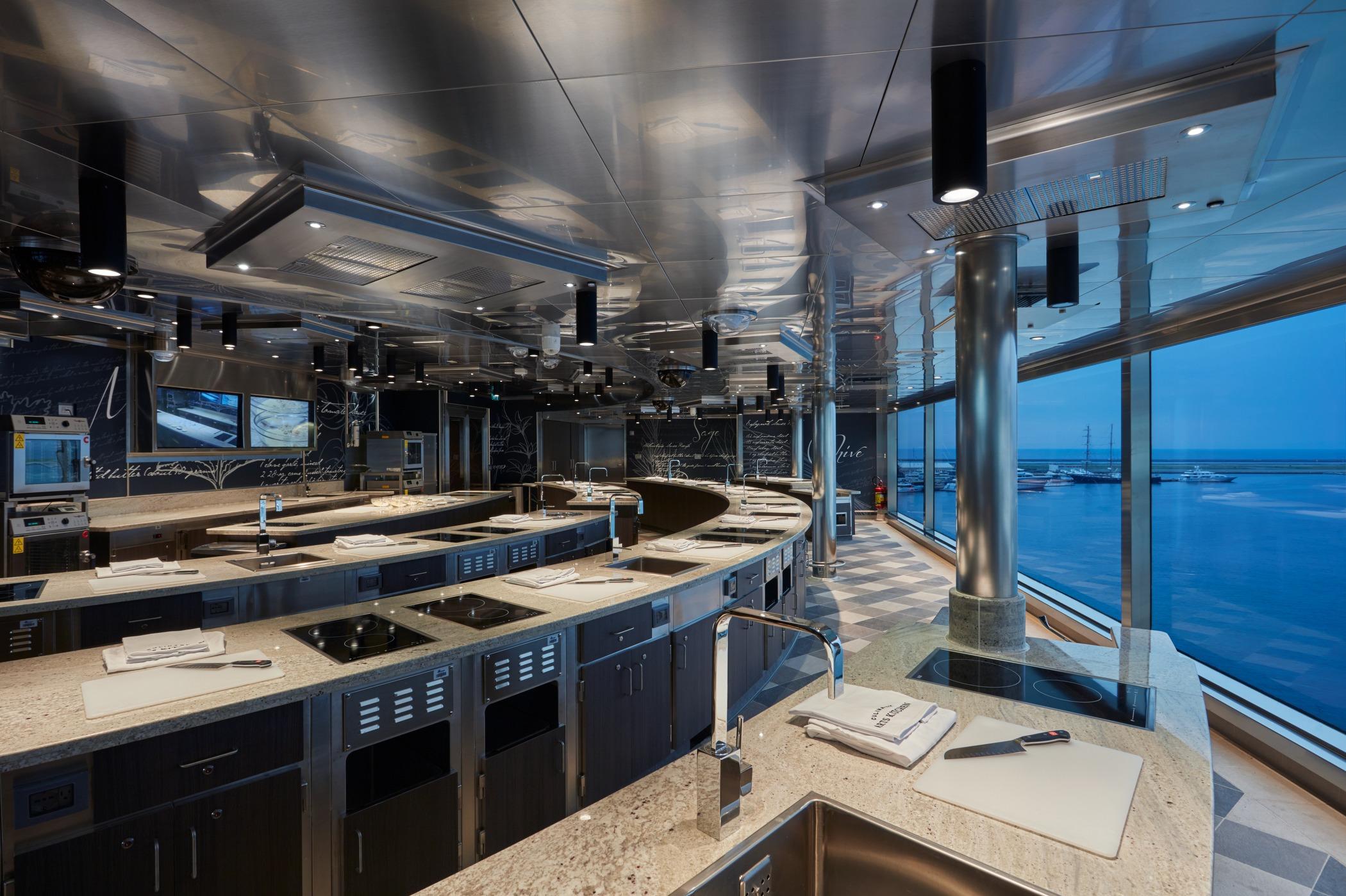 Regent Seven Seas Splendor - Culinary Arts Kitchen