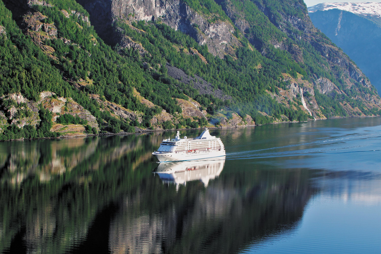 Regent Seven Seas Voyager in Geirangerfjord, Norway