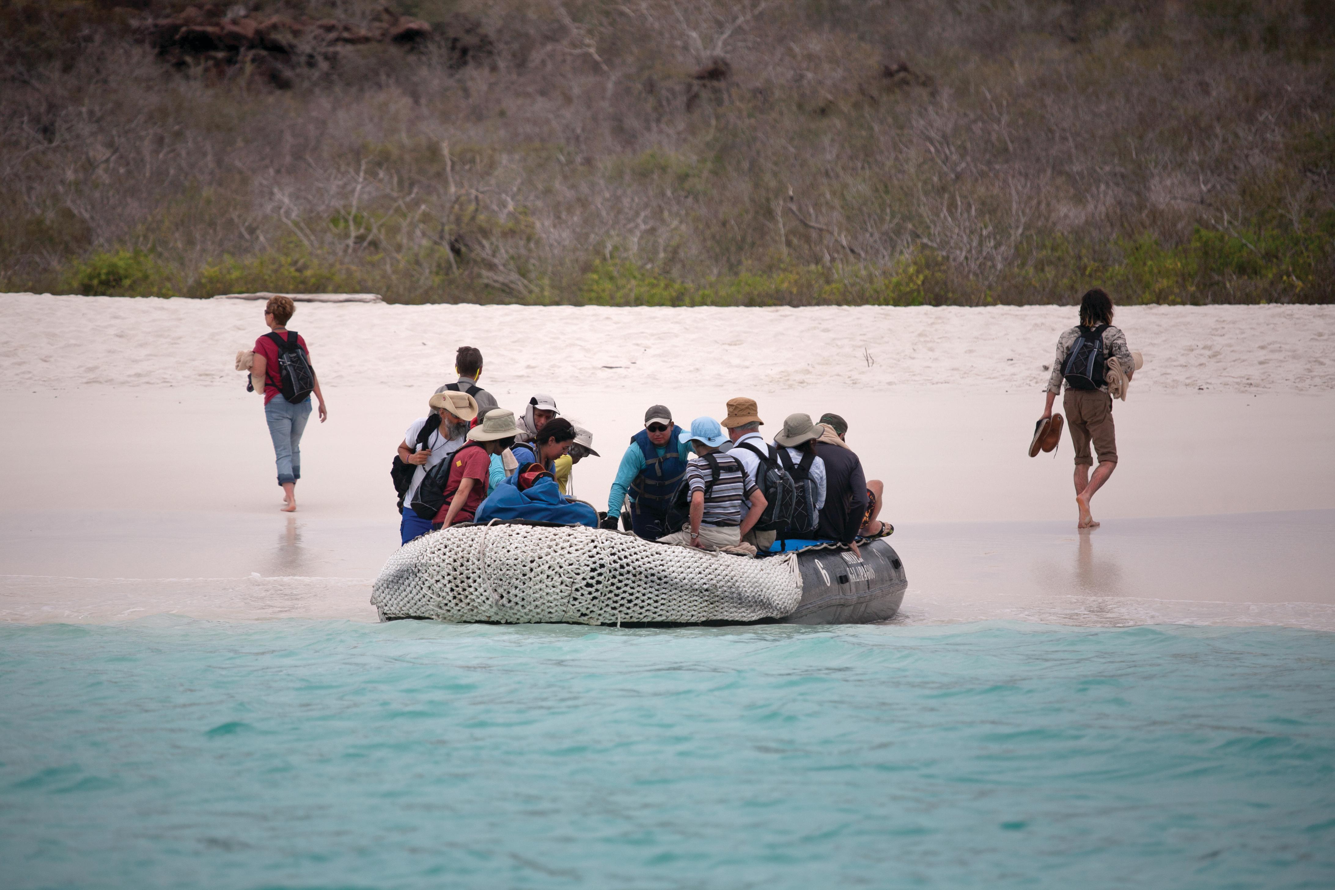 Silversea - Zodiac landing on Espanola, Galapagos