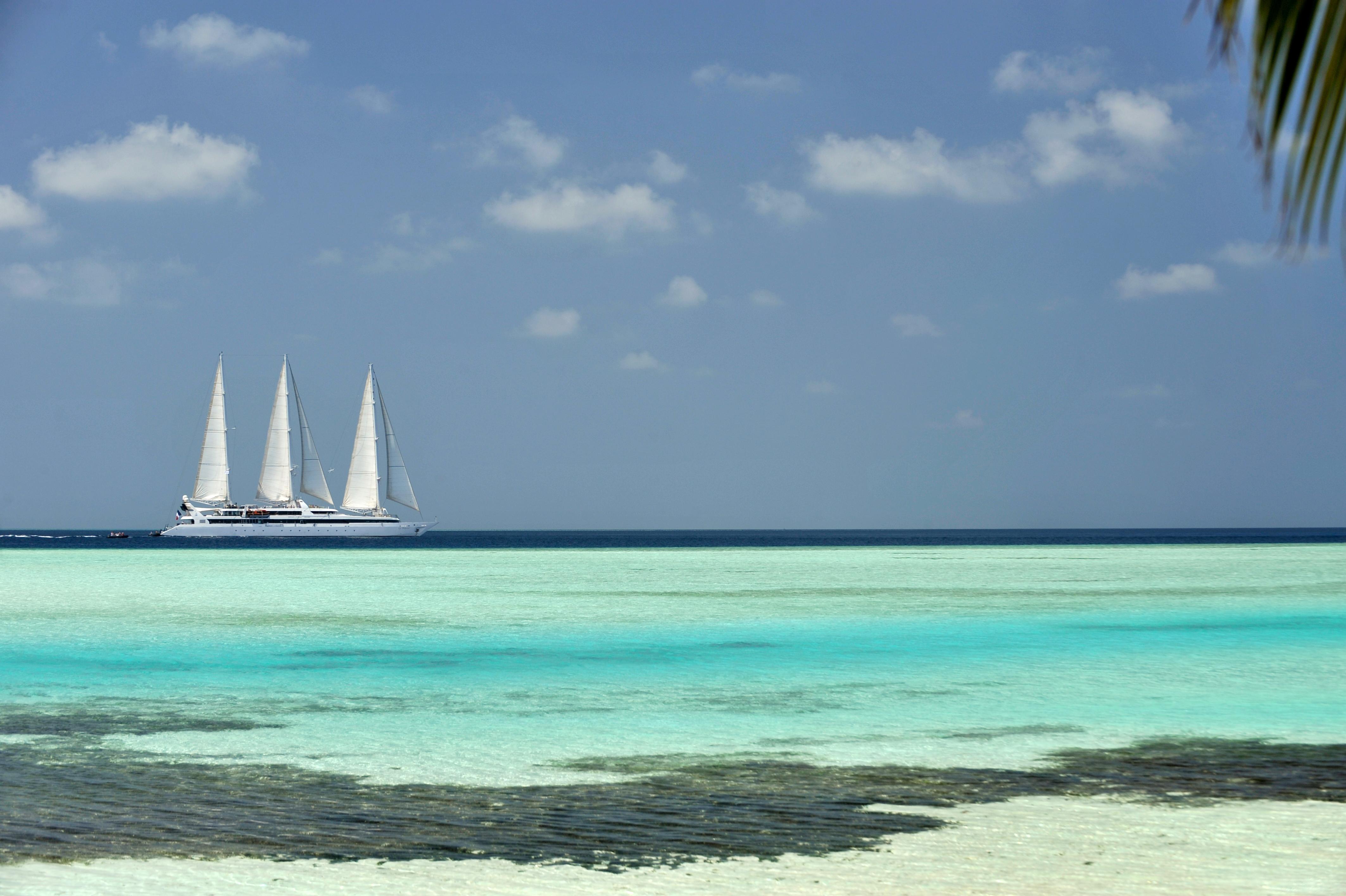 Le Ponant in the Maldives