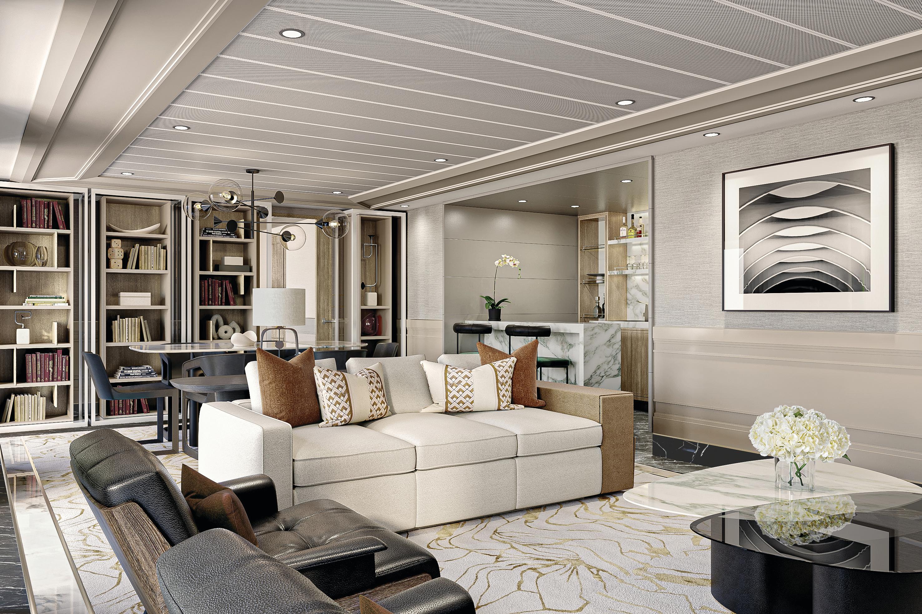 Regent Seven Seas Grandeur - Grand Suite living room