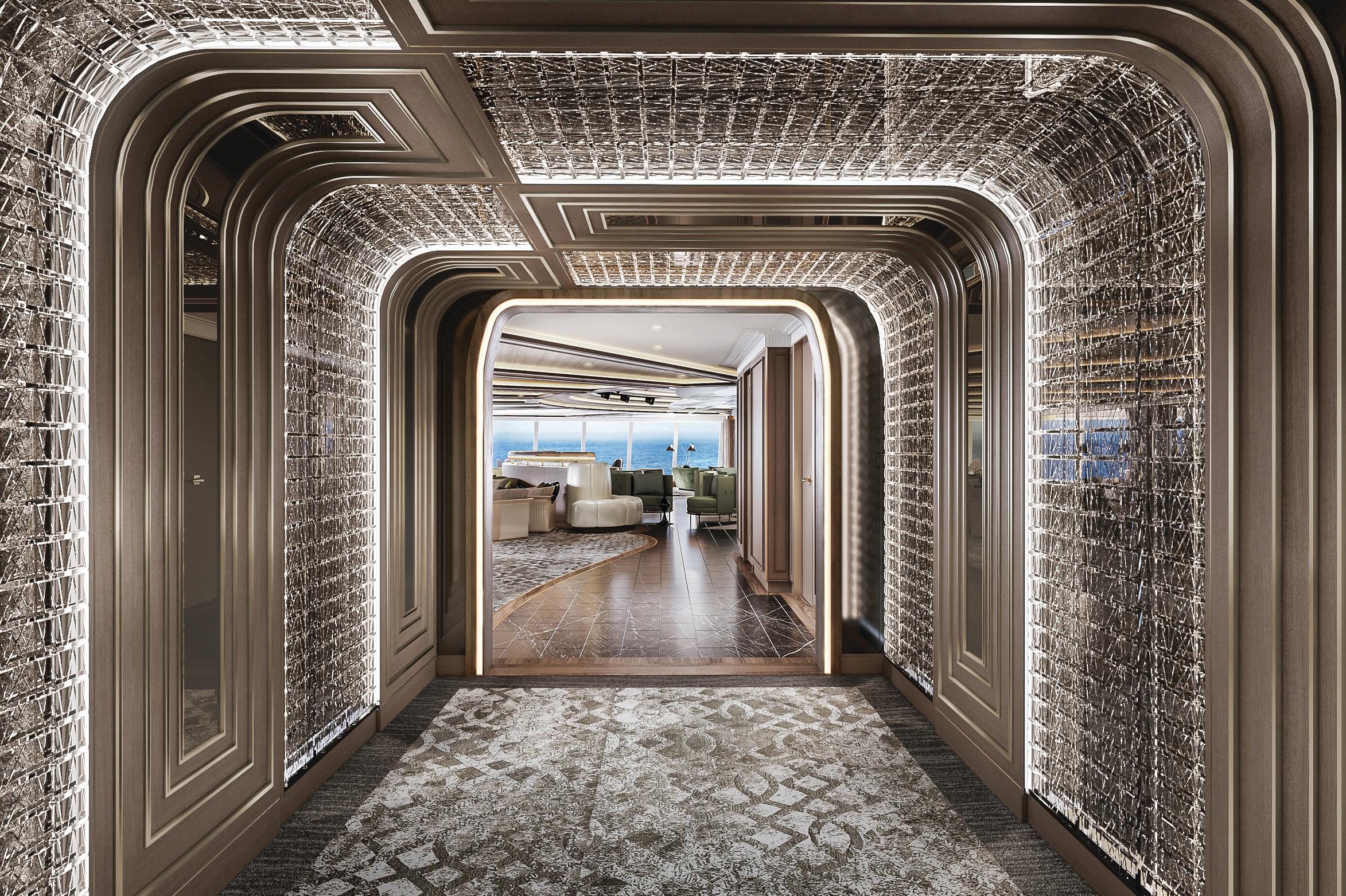 Regent Seven Seas Grandeur - Observation Lounge entrance