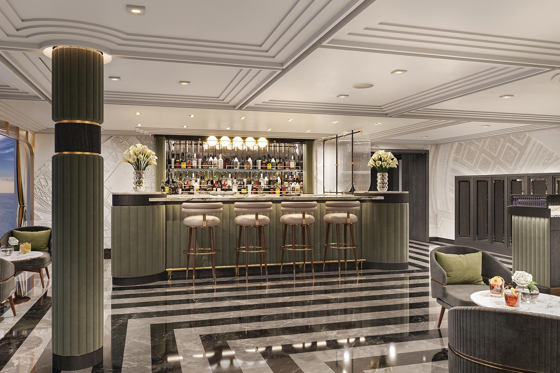 Regent Seven Seas Grandeur - Bar at Chartreuse restaurant