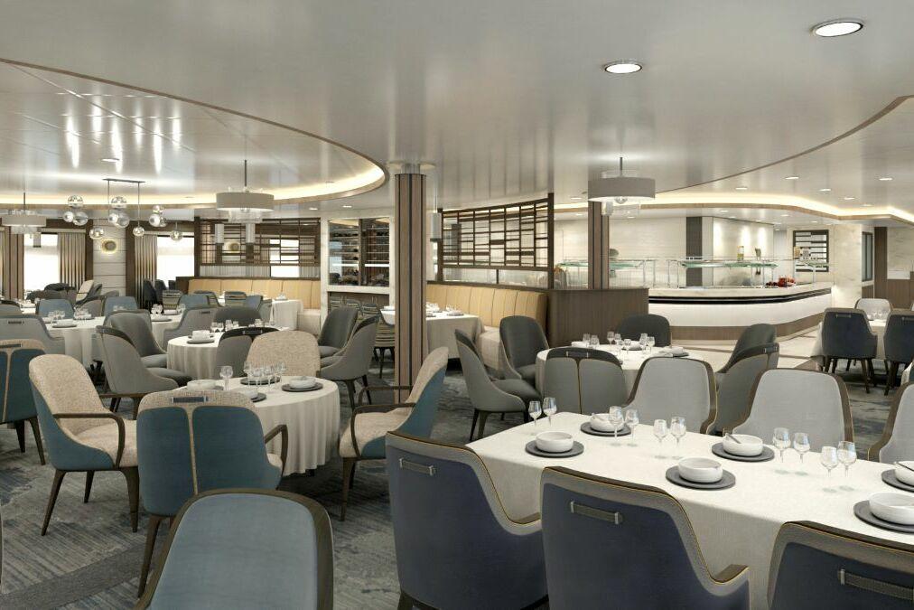 Aurora Expeditions - Sylvia Earle - Main Restaurant