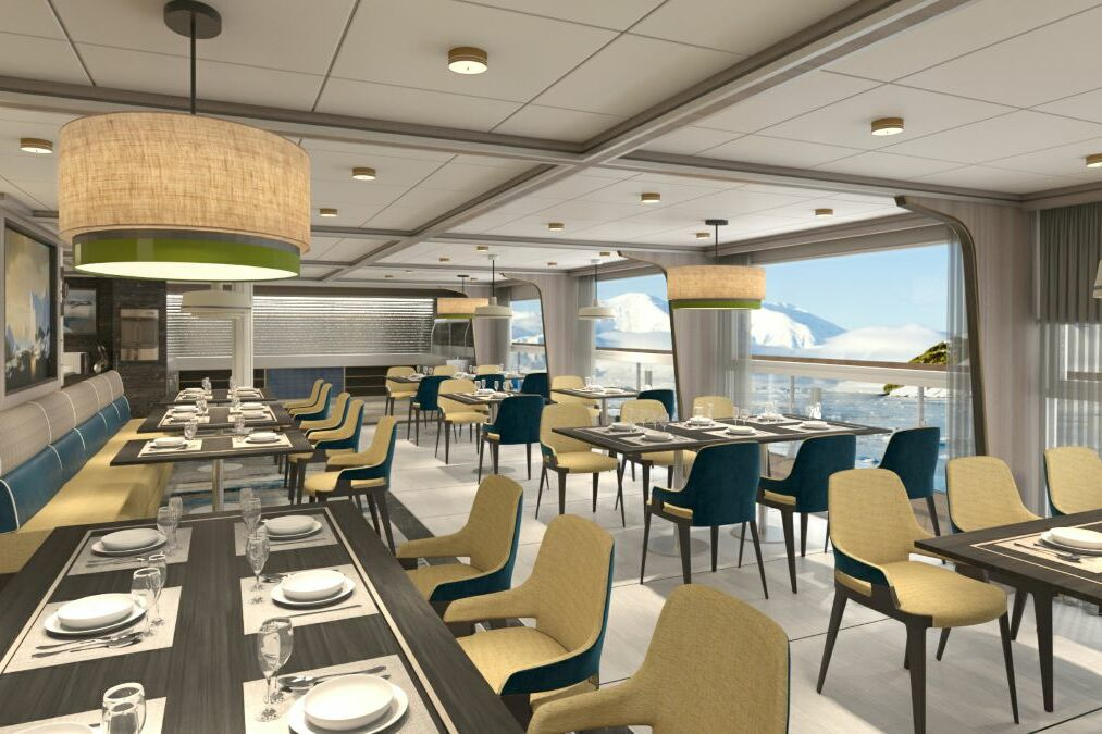 Aurora Expeditions - Sylvia Earle - Top Deck Restaurant