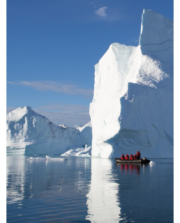 Silversea Zodiac in Antarctica