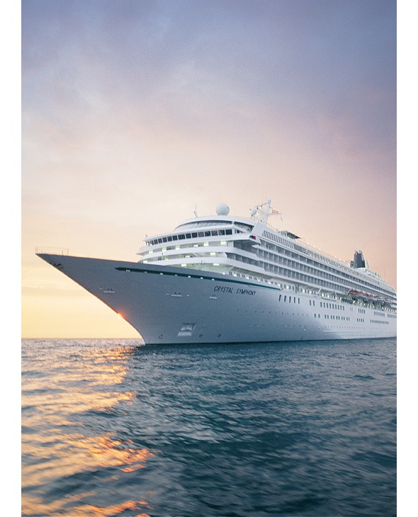 The luxury cruise ship Crystal Symphony