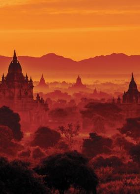 Sunset over Bagan