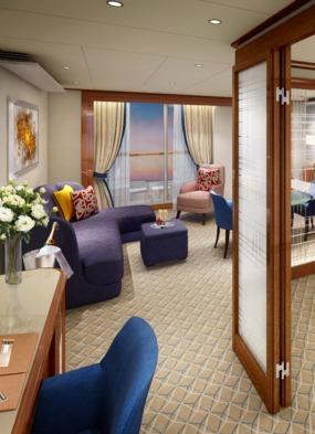Seabourn Encore Penthouse Suite rendering
