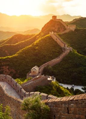 China & Japan cruises - The Great Wall at sunset