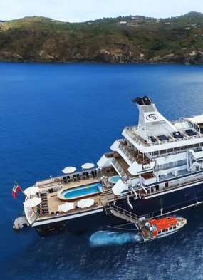 A small ship cruise on board SeaDream in the Caribbean