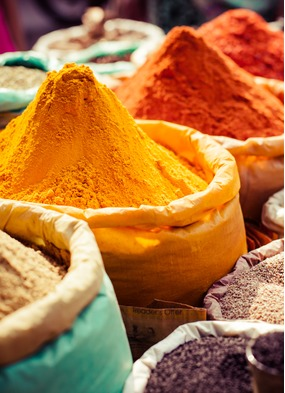 Visiting colourful spice markets on an Indian Ocean cruise