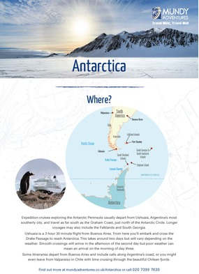 Mundy Adventures - Antarctica guide