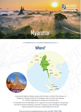 Mundy Adventures - Myanmar PDF Guide