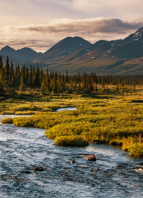 Serenity Lake, Alaska, USA