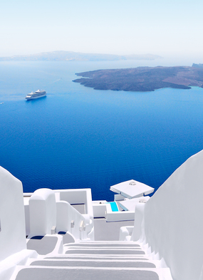 Santorini, one of the best Mediterranean islands to visit on a cruise