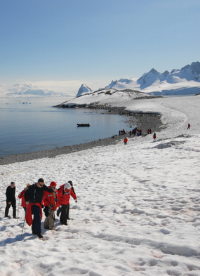 Antarctica expedition cruises - Silversea zodiac landing
