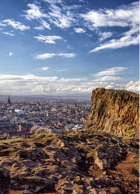 Edinburgh, a key port for cruises from Scotland