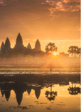 Angkor Wat, one of the highlights of a Mekong river cruise