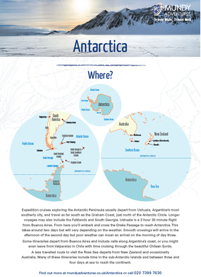 Mundy Adventures Antarctica Guide 2020