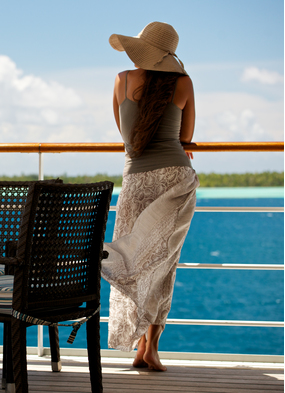 Guest on Paul Gauguin, one of the best small ship cruise options in the South Pacific