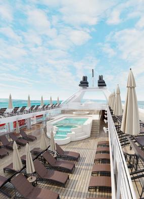 Rendering of the infinity pool deck after Windstar's 2020 refurbishment programme