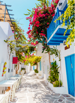 The Greek island of Paros in the Mediterranean, one of the world's best cruise destinations