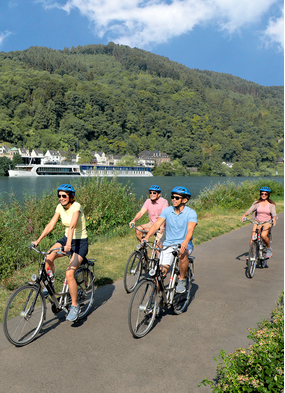 Bicycle excursion with AmaWaterways, one of the best health and wellness cruise options