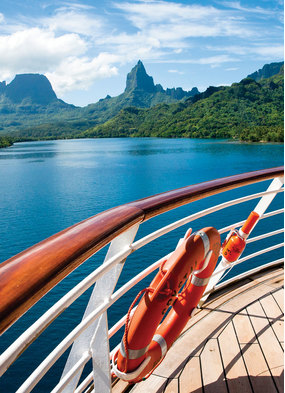 The view from Crystal Serenity - When will be able to cruise like this again?