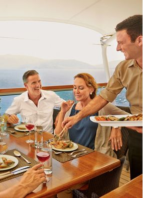 Seabourn, one of the best cruise lines for groups of friends and family